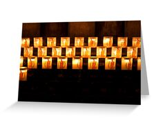 Candles, Notre Dame de Paris Greeting Card