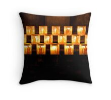Candles, Notre Dame de Paris Throw Pillow