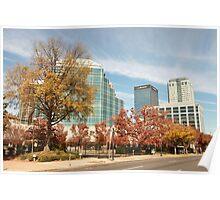 Downtown  Birmingham in Autumn Poster