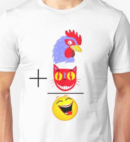 Cock + Pussy = Happy Unisex T-Shirt