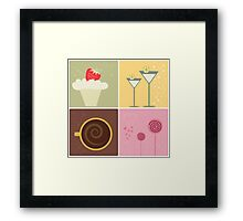 Cafe Coffee & Chocolate Vector Illustration Framed Print