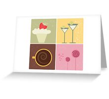 Cafe Coffee & Chocolate Vector Illustration Greeting Card
