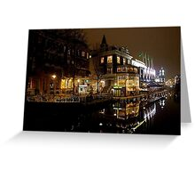 NIGHT REFLECTION AMSTERDAM Greeting Card
