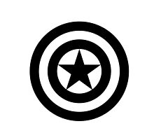 B/W Captain America Shield by phanwholocked