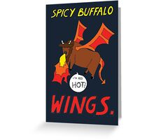 Spicy Buffalo Wings Greeting Card
