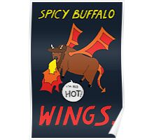 Spicy Buffalo Wings Poster