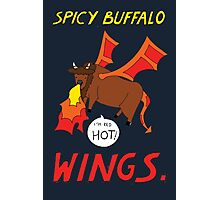 Spicy Buffalo Wings Photographic Print