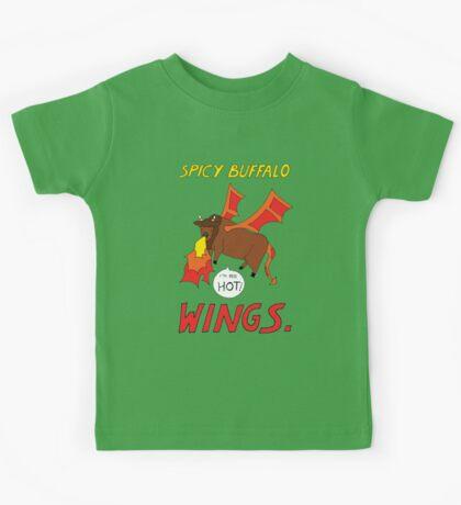 Spicy Buffalo Wings Kids Tee