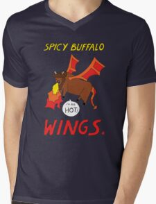 Spicy Buffalo Wings Mens V-Neck T-Shirt