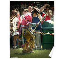 dancer at pow wow Poster