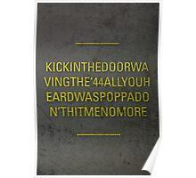 KICK IN THE DOOR Poster
