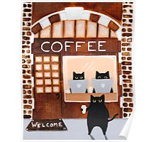 Coffeehouse Cats Poster