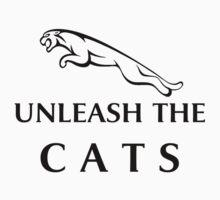 Unleash The Cats (Large Logo - Black) Kids Clothes