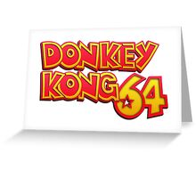 Donkey Kong 64 Logo Greeting Card