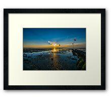 Summer sunset over the beach of Whitstable in Kent Framed Print