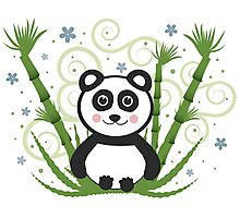 Cute Baby Panda Vector Illustration Photographic Print