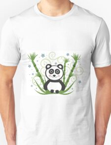Cute Baby Panda Vector Illustration Unisex T-Shirt