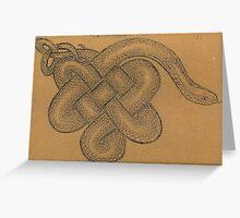 Celtic copperhead Greeting Card