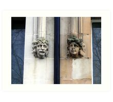 Stone faces Art Print