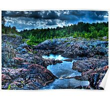 HDR River Between Rocks Poster