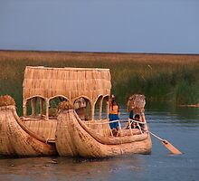 Floating Reed Island, Lake Titicaca, Peru by Martyn Baker | Martyn Baker Photography