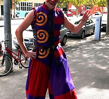 Jester on the street by Janette Anderson
