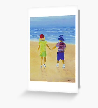 Walk on the Beach Greeting Card