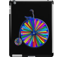 Penny-Farthing Bicycle with Kaleidoscope Wheels iPad Case/Skin