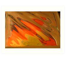 Candy Corn, Blot Orange Warm Mono chromatic Raw Image Art Print