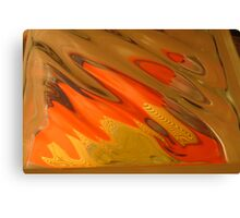 Candy Corn, Blot Orange Warm Mono chromatic Raw Image Canvas Print