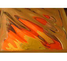 Candy Corn, Blot Orange Warm Mono chromatic Raw Image Photographic Print