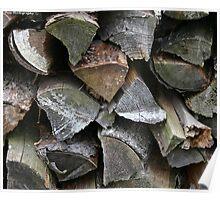 firewood pattern Poster