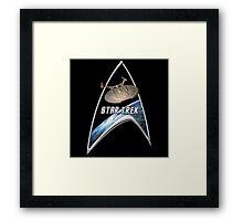 StarTrek Command Silver Signia Enterprise NX01 Framed Print