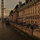 London Eye from the side  by Amir Sabanovic