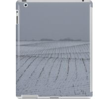 Winter Farm Fields - Rolling Hills on a Bleak Snowy Day iPad Case/Skin
