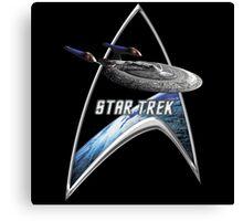 StarTrek Command Silver Signia Enterprise Sovereign E Canvas Print
