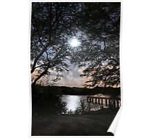Moonlight Reflection Poster