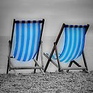 Two Blue Deckchairs by Karen Martin IPA