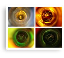 Beer series - looking down the neck Canvas Print