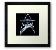 StarTrek Command Silver Signia Enterprise JJA01 Framed Print