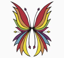 Rainbow Wings Black One Piece - Long Sleeve