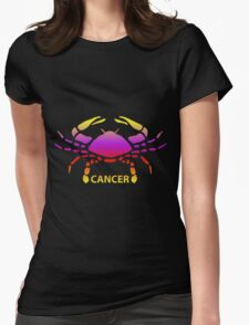 Colorful Zodiac sign - Cancer Womens Fitted T-Shirt