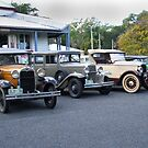 Vintage Cars Outside The Caves Country Pub, QLD Australia by Gryphonn