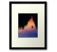 Bates Sunset Duck - 85731 Framed Print