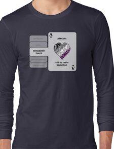 Asexual Character Bonus (Heart Symbol) Long Sleeve T-Shirt