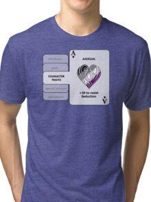 Asexual Character Bonus (Heart Symbol) Tri-blend T-Shirt
