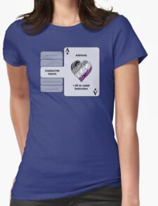 Asexual Character Bonus (Heart Symbol) Womens Fitted T-Shirt
