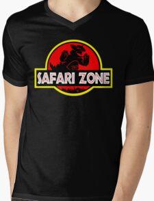 Safari Zone X Jurassic Park Mens V-Neck T-Shirt