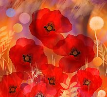 Hot summer poppies by walstraasart