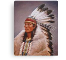 Chief Standing Wolf Canvas Print